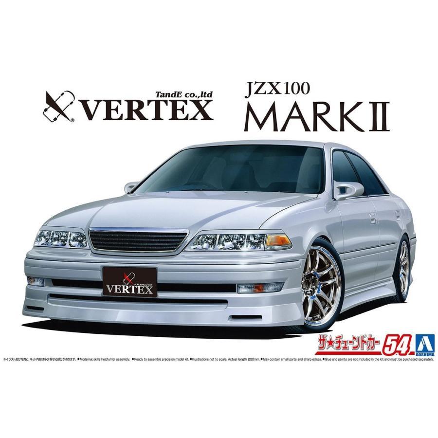 [予約2021年11月発送予定]VERTEX JZX100 マークII ツアラーV '98(トヨタ) 1/24 ザ・チューンドカー No.54 #プラモデル aoshima-bk