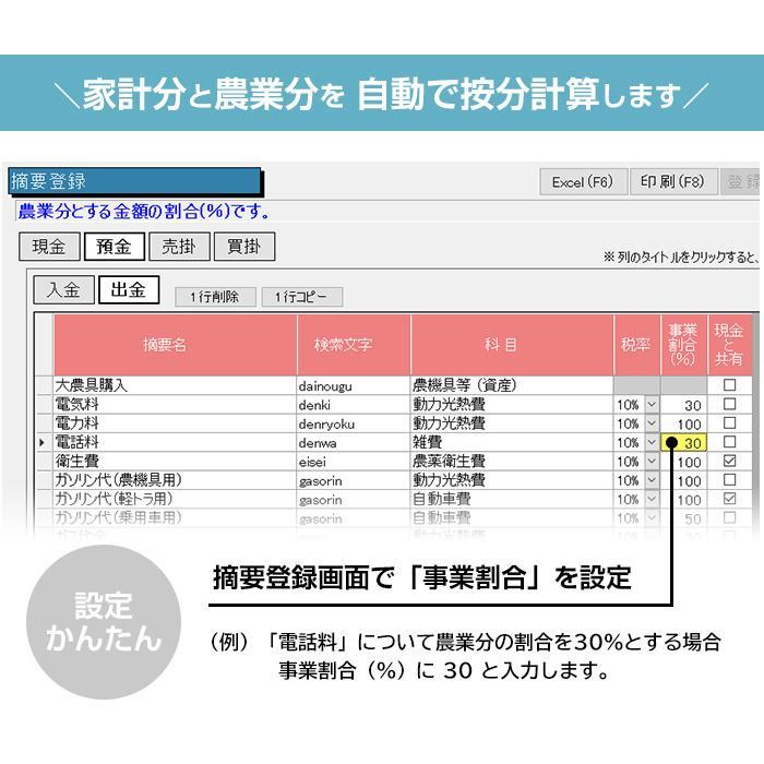 2021年版 らくらく青色申告 農業版|aoshin|05