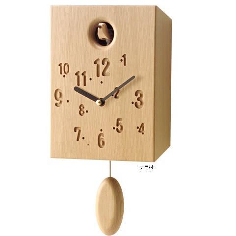 掛け時計 おしゃれ 木製 カッコイー (ナラ) 旭川家具 cosine コサイン