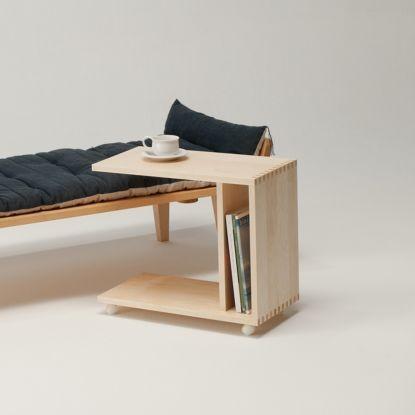 ワゴンテーブル サイドテーブル 木製 メープル WI-05NM 旭川家具 cosine コサイン