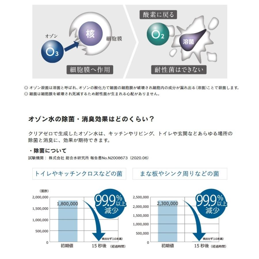 フジ医療器 オゾン水生成器 トレビクリアゼロ FWO-3|aozora-d|04