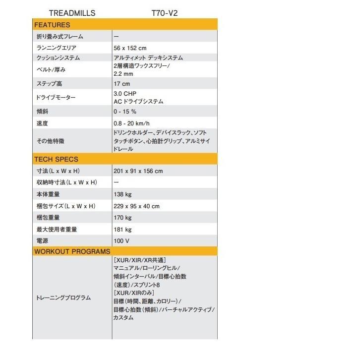 ジョンソンヘルステックジャパン MATRIX マトリックス T70-XR-V2 トレッドミル(ルームランナー)8.5インチLCDディスプレイ|aozora-d|07