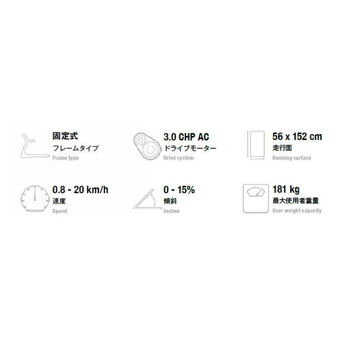 ジョンソンヘルステックジャパン MATRIX マトリックス T70-XR-V2 トレッドミル(ルームランナー)8.5インチLCDディスプレイ|aozora-d|08