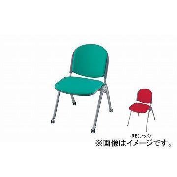 ナイキ/NAIKI 会議用チェアー 4本脚タイプ・キャスター付 レッド レッド E255FC-RE 495×585×767mm