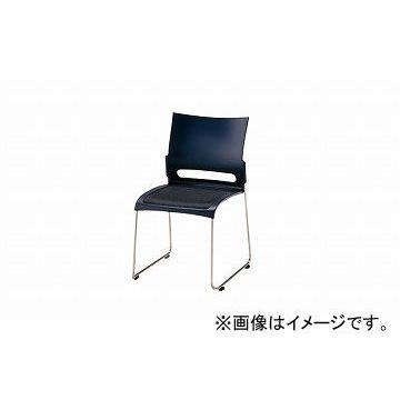 ナイキ/NAIKI 会議用チェアー ステンレスタイプ ステンレスタイプ ブルー E225S-BL 505×545×800mm