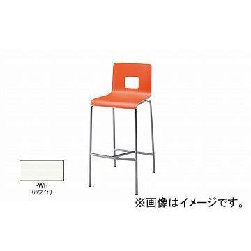 ナイキ/NAIKI ナイキ/NAIKI カウンターチェアー ループ脚タイプ ホワイト E281-1-WH 431×495×980mm