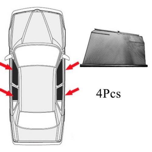 AL サイド ウインドウ サンシェード 日除け 車用 カーテン 適用: メルセデスベンツ/MERCEDES BENZ S クラス W220 4 サイド ウィンドウ AL-II-0926