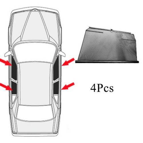 AL サイド ウインドウ サンシェード 日除け 車用 カーテン 適用: ホンダ ジャズ/フィット GE GK GD 4 サイド ウィンドウ AL-II-0932