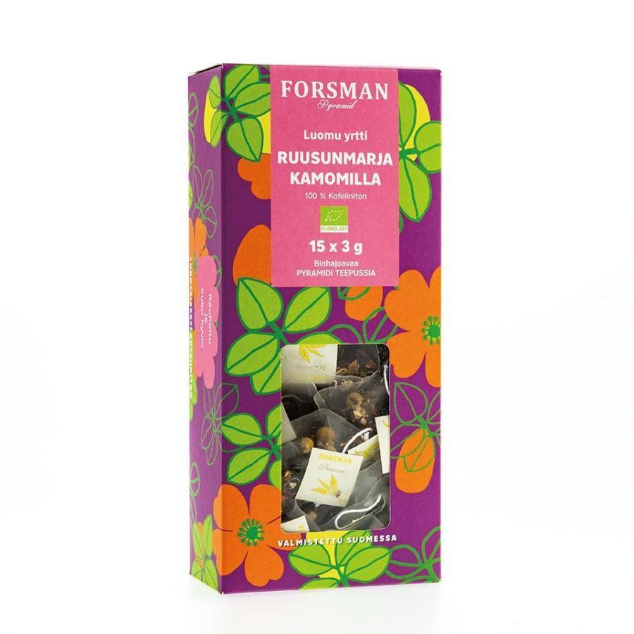 フィンランドティー / forsman tea / ローズヒップ カモミール ティー / ノンカフェイン / Finland|apetera