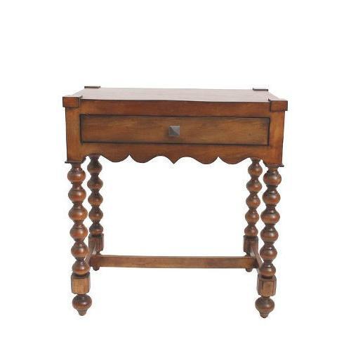 デスクにもなる木製コンソールテーブル(アンティーク仕上げ)