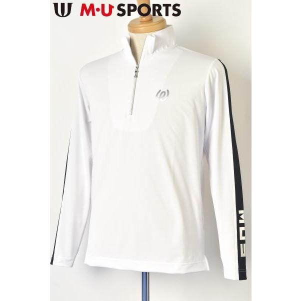 保障できる MUスポーツ M・U SPORTS ゴルフ 2020春夏新作 メンズ ハーフジップシャツ, 大田原市 5163a422
