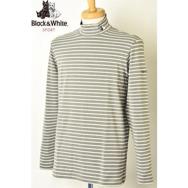 ブラック&ホワイト 黒&白い ゴルフ 2019秋冬新作 メンズ ハイネックシャツ