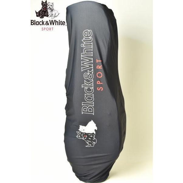 ブラック&ホワイト 黒&白い ゴルフ 2019春夏新作 メンズ キャディバッグ用トラベルカバー