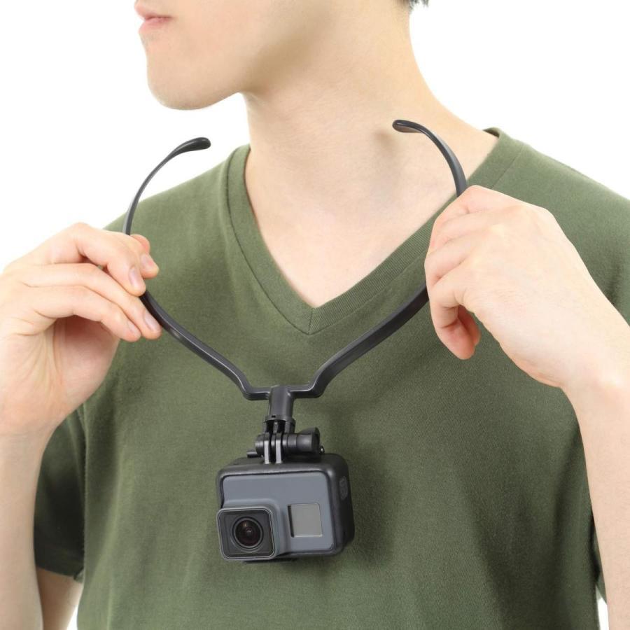 GoPro ゴープロ 用 アクセサリー ネックレス式マウント hero8 hero7 MAX スマホ その他アクションカメラ対応|apluscamera|11