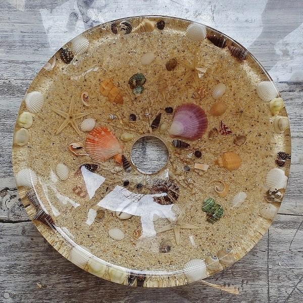 貝殻の洗面ボウル Sサイズ 貝殻 リゾート風 オリジナル 樹脂製 洗面ボウル|apoa|02