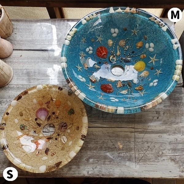 貝殻の洗面ボウル Sサイズ 貝殻 リゾート風 オリジナル 樹脂製 洗面ボウル|apoa|12