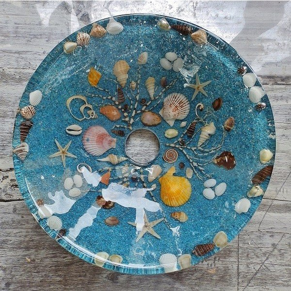 貝殻の洗面ボウル Sサイズ 貝殻 リゾート風 オリジナル 樹脂製 洗面ボウル|apoa|03