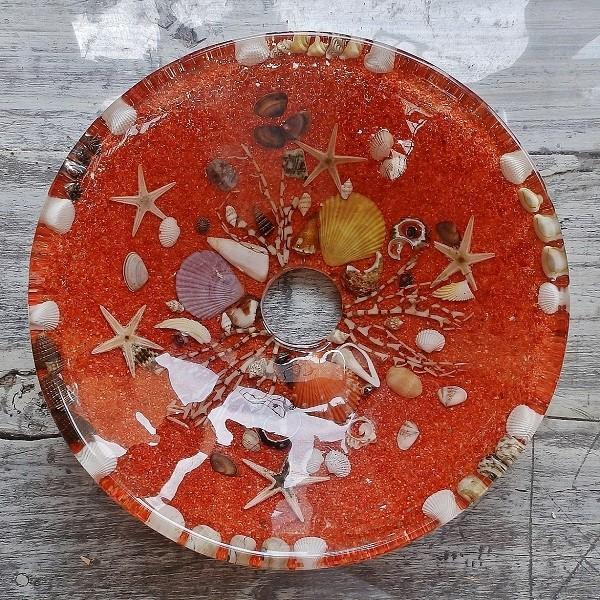 貝殻の洗面ボウル Sサイズ 貝殻 リゾート風 オリジナル 樹脂製 洗面ボウル|apoa|04
