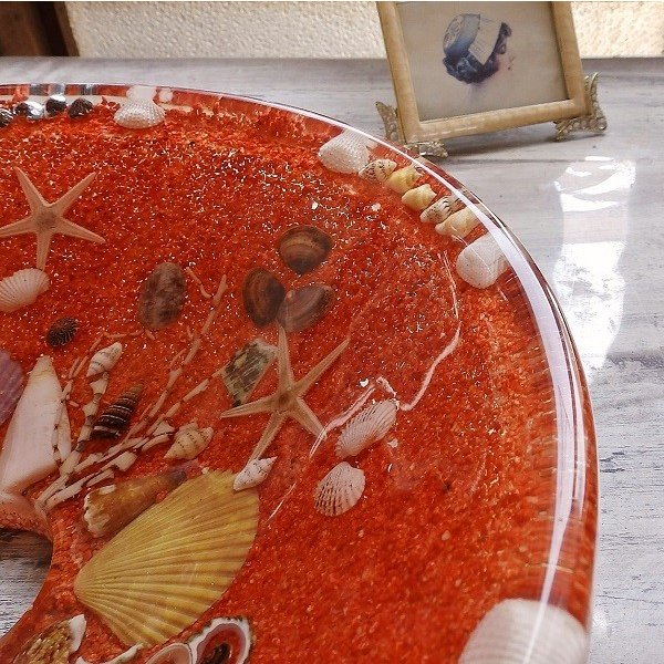 貝殻の洗面ボウル Sサイズ 貝殻 リゾート風 オリジナル 樹脂製 洗面ボウル|apoa|05