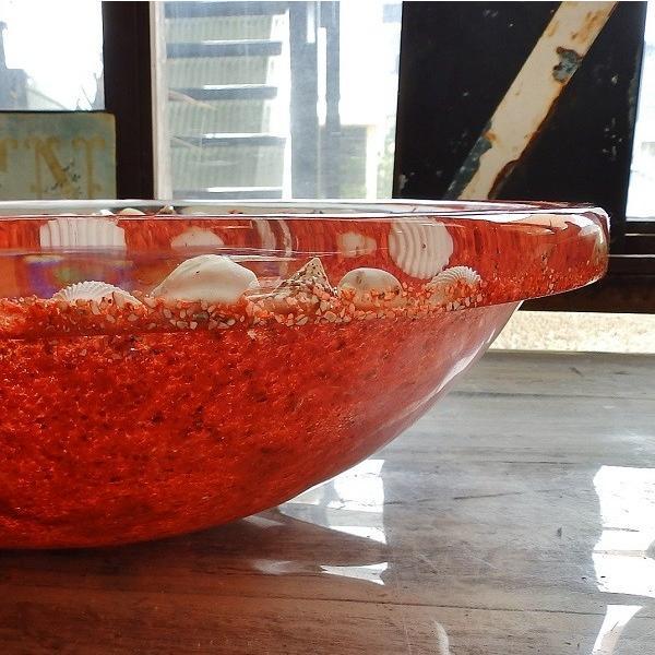 貝殻の洗面ボウル Sサイズ 貝殻 リゾート風 オリジナル 樹脂製 洗面ボウル|apoa|08