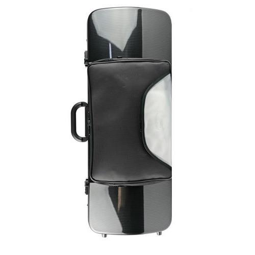 BAM Hightech Oblong 2202XLC ブラックカーボンルック (ポケット有) ビオラ用ケース 【バム Violaケース】