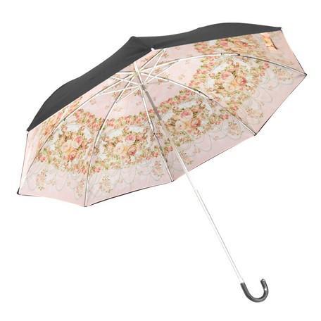 雨晴兼用 二重張り 折りたたみ傘 ミオラローズピンク ANGELIQUE SPICA ROSE あまの レターパックプラス可|applemint-zakka2