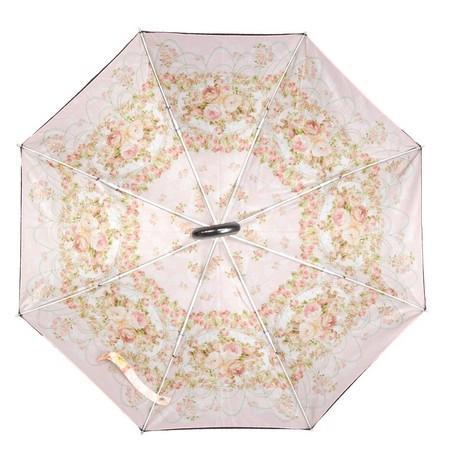 雨晴兼用 二重張り 折りたたみ傘 ミオラローズピンク ANGELIQUE SPICA ROSE あまの レターパックプラス可|applemint-zakka2|02
