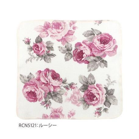 薔薇柄 綿ふきん ディッシュクロス 柄違い3枚セット 綿100% 日本製 メール便送料無料|applemint-zakka2|05