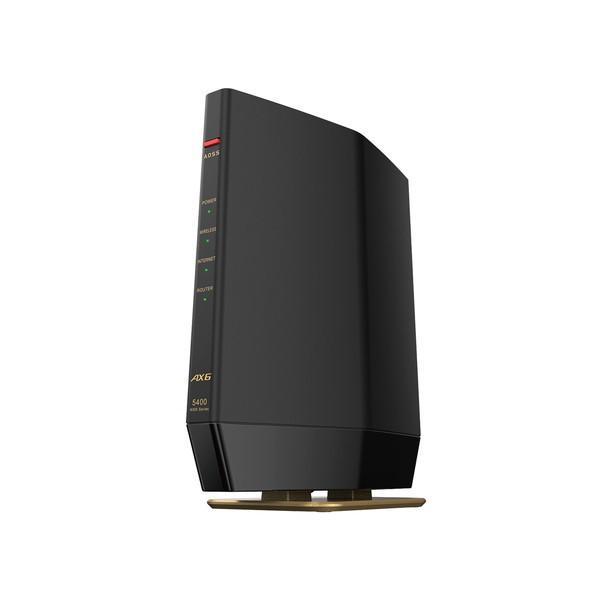 バッファロー 品質保証 BUFFALO 無線LANルーター Wi-Fiルーター AirStation WiFi6 WSR5400AX6SMB WSR-5400AX6S-MB マットブラック 6501-4981254058725 ●日本正規品●