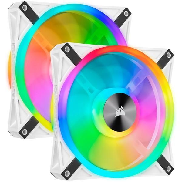 当店一番人気 Corsair CO-9050106-WW 春の新作続々 iCUE QL140 RGB Dual Fan PCケースファン White Kit