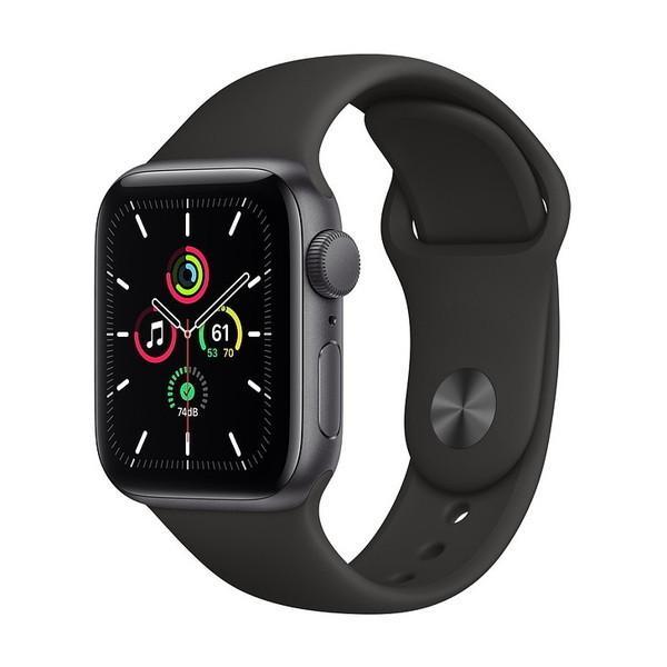 APPLE 正規品送料無料 商舗 MYDP2J A ブラックスポーツバンド SE GPSモデル Apple Watch 40mm アップルウォッチ