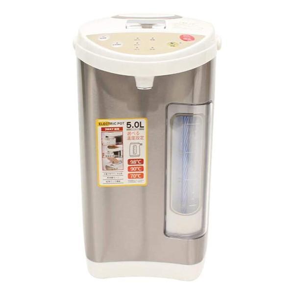 ヒロコーポレーション 電気ポット 5.0L 保温 再沸騰 ロック機能 期間限定特別価格 限定モデル 安全 HKP-500 給湯