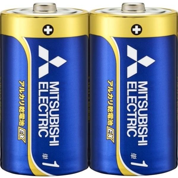 三菱ライフネットワーク アルカリ乾電池 単1 LR20EXD/2S 2コ入 アルカリEX