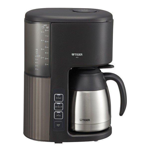 タイガー コーヒーメーカー 2〜8杯 大人気 ACE-S080 カフェブラック ストアー 1.08L アイス マイコン 真空ステンレスサーバー TIGER