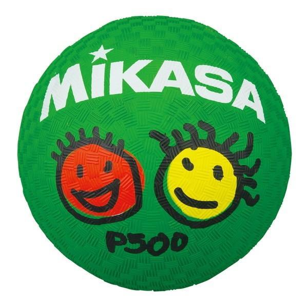 返品送料無料 MIKASA P500 プレイグラウンドボール 海外限定 緑 ゴム