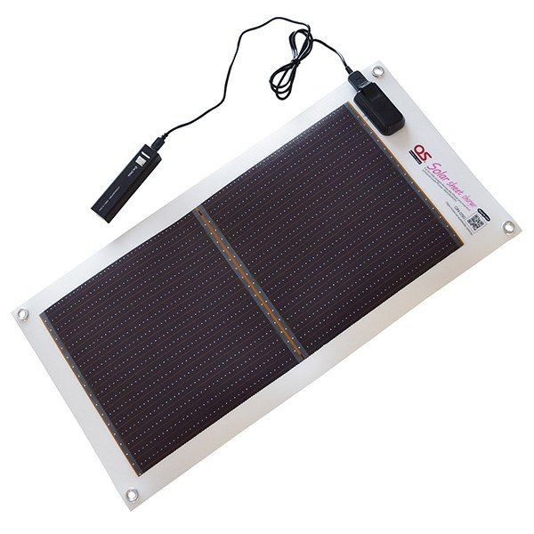 OS GN-050B2 モバイルバッテリー付 ソーラーシートチャージャーセット