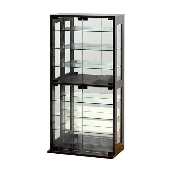 コレクションケース ショーケース コレクションボード ガラス 開催中 フィギュア ダークブラウン クロシオ 組立 特価 収納