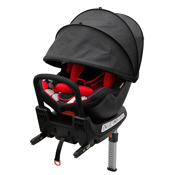 日本育児 6450010001 バンビーノ 360 Fix スカンジナビアンドット レッド チャイルドシート 保証期間:1年