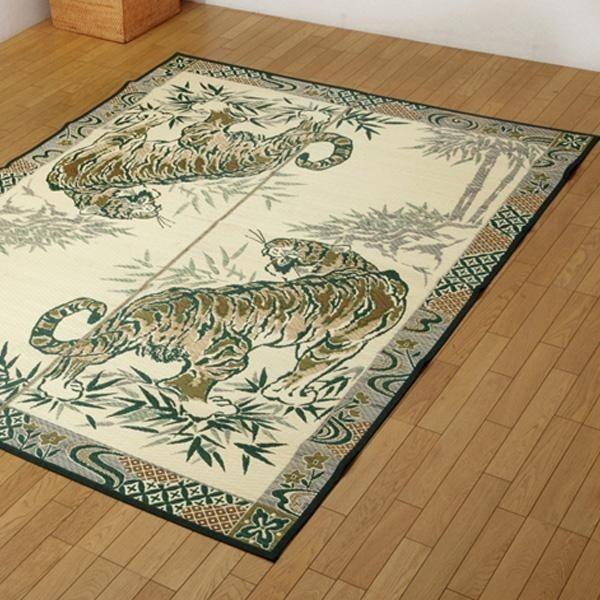イケヒコ・コーポレーション 純国産い草ラグカーペット 『虎』 約191×250cm 1712730