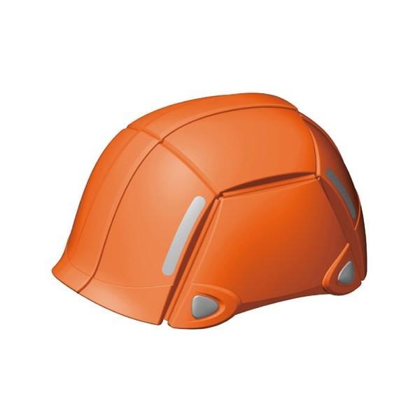 トーヨーセフティー No.100 オレンジ 折りたたみヘルメットブルーム