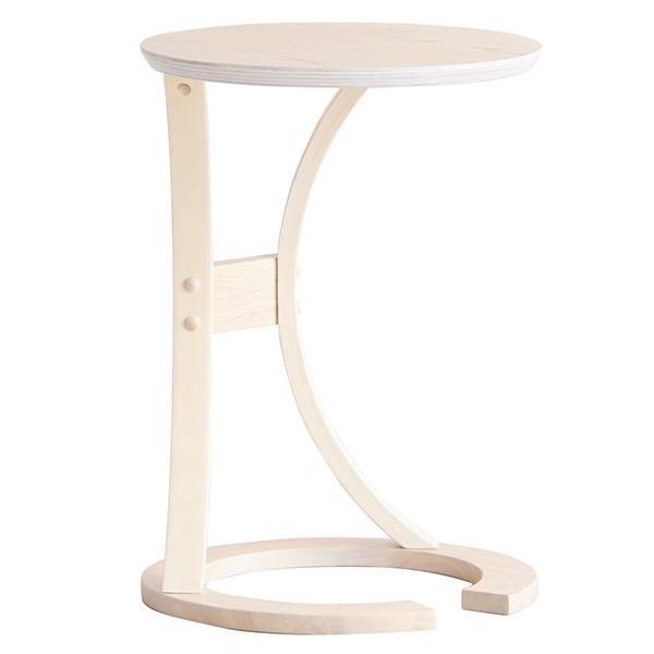 サイドテーブル ギフト プレゼント ご褒美 北欧 おしゃれ 丸 木製 ナイトテーブル コンパクト スリム ベッド ソファテーブル NEW ARRIVAL LOTUS ナチュラル