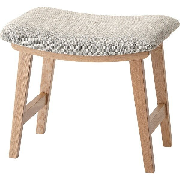 スツール 即納最大半額 在庫一掃売り切りセール オットマン チェア 椅子 ファブリック ベージュ 北欧 トロペ シンプル CL-790CBE 完成品
