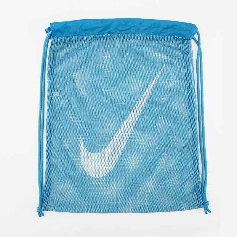 プールバッグ 日本メーカー新品 キッズ ジュニア ブルー 水色 子ども 即出荷 ナイキ NIKE メッシュ 体育 1984907-10 授業 学校 スイムバッグ 巾着タイプ 10L ナップサック スイミング