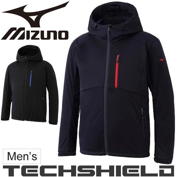 ウインドブレーカー ジャケット メンズ ミズノ MIZUNO テックシールド ソフトシェル 男性用 アウター アウトドアウェア トレッキング 登山 /A2ME7503