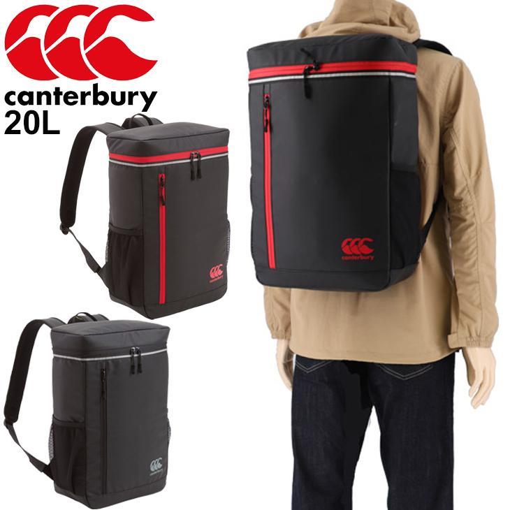リュックサック バッグパック メンズ カンタベリー Canterbury デイパック DAY PACK 在庫あり ラグビー AB09914 スポーツバッグ ボックス型 鞄 かばん 爆買い送料無料 普段使い 20L