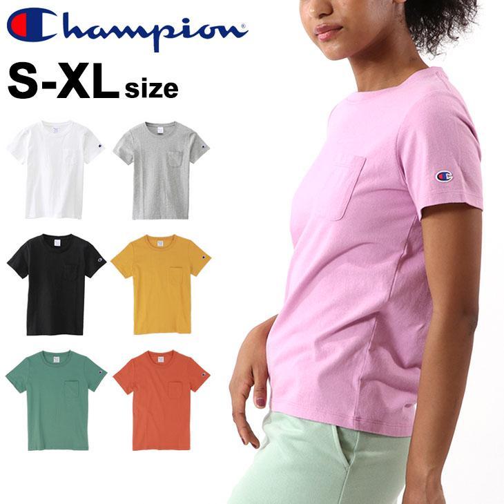 Tシャツ 半袖 いよいよ人気ブランド レディース チャンピオン champion ポケットTEE スポーツカジュアル CW-M321 ●スーパーSALE● セール期間限定 半袖シャツ 無地 タウンユース 女性