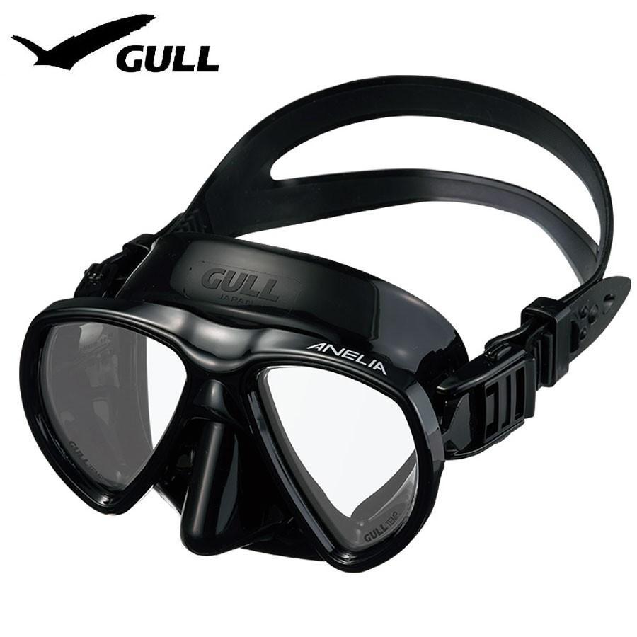 ダイビングマスク GULL/ガル アネリア ブラックシリコン GM-1049