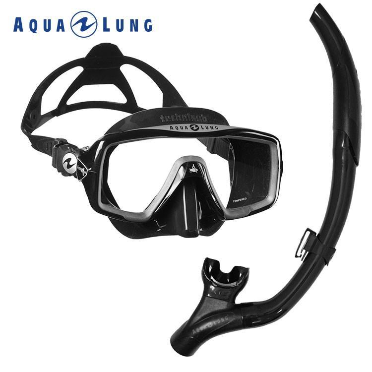ダイビング マスク スキューバダイビング 軽器材 セット シュノーケル 2点セット AQUALUNG アクアラング 【ventura+-imp3nf】