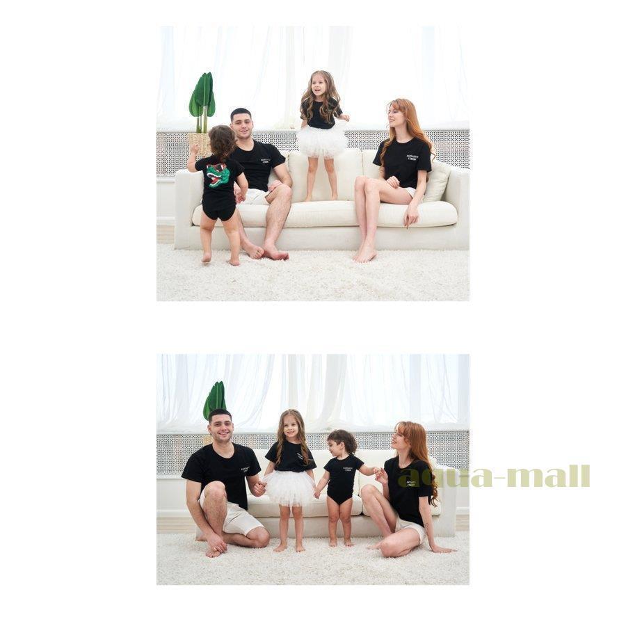 親子ペアルック ベビー 親子お揃い 恐竜柄 Tシャツ パパ ママ ベビー ベビー服 キッズ リゾート おそろい コーデ 家族 ギフト プレゼント シンプルデザイン 親子 aqua-mall 10
