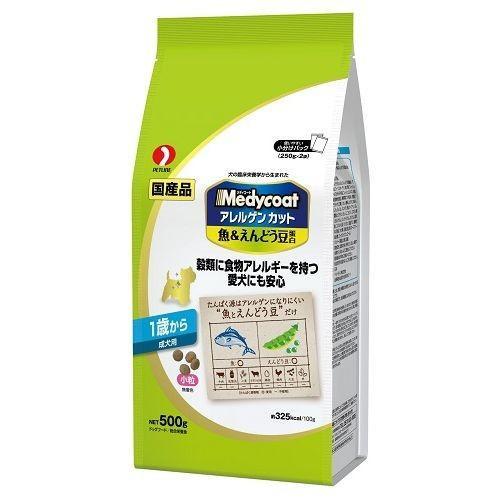 メディコート アレルゲンカット 魚&えんどう豆蛋白 1歳から 成犬用 500g|aquabase